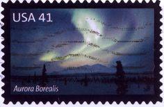USA, Aurora Borealis Stamp Collecting, Aurora Borealis, Postage Stamps, Coins, United States, Usa, Storage, Beautiful, Collection