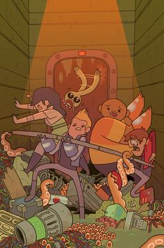 Cover for issue #1 of Bravest Warriors comic