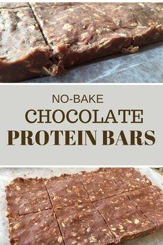 No-Bake Chocolate Protein Bars {honey, chia seeds, oats, peanut butter, milk, chocolate protein powder}