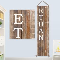 Growth Chart Boy Ruler Canvas Wood Image On Personalized By Jolieprints Etsy