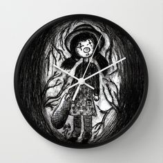 Lost Clown Wall Clock by Tika Calderon - $30.00