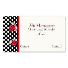 Ladybug business cards business cards ladybug and business red black ladybugs mommy calling card double sided standard business cards pack of colourmoves