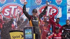NASCAR Driver Matt Kenseth wins the STP400 at Kansas from the pole