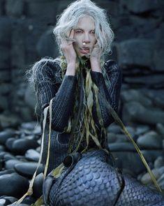Modeconnect.com - Tim Walker fashion photography featuring mermaid Kristen McMenamy for W Magazine 2013