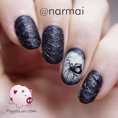 """Spider nails by @narmai  Song: """"Ossuary 2 - Turn"""" by Kevin MacLeod"""