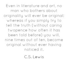 C.S. Lewis on creativity