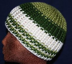 knit look crochet pattern.  If you cannot find this pattern I found it on Ravelry.com http://www.ravelry.com/patterns/library/knit-look-ribbed-hat