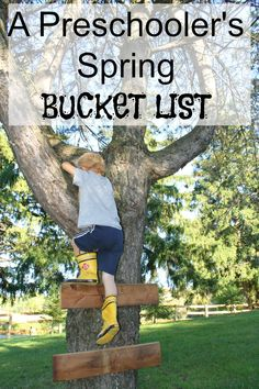 A Preschooler's Spring Bucket List! 7 spring experiences all children need. SO simple, but very meaningful for kids!