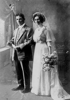 178655 James and Cecilia Dowling on their wedding day, . 178655 James and Cecilia Dowling on their wedding day, Chic Vintage Brides, Vintage Wedding Photos, Vintage Bridal, Wedding Pics, Wedding Couples, Wedding Bride, Wedding Styles, Vintage Photos, Vintage Weddings