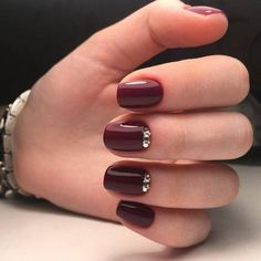 awesome 55 Amazing Designs for Burgundy Nails – Captivating and Trendy – The Best Nail Designs – Nail Polish Colors & Trends Winter Nail Designs, Best Nail Art Designs, Gel Nail Designs, Nails Design, Nail Art Designs Videos, Fall Gel Nails, Winter Nails, Fun Nails, Autumn Nails