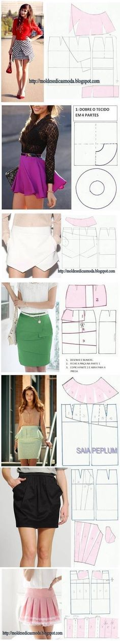 Adorable skirt patterns! I would lengthen them though...