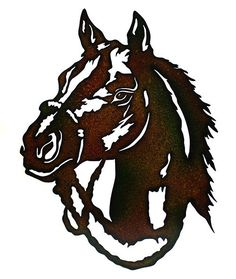 This Metal Horse Head is made with precision laser technology for a truly unique look. Brown and black splatter painted to provide a rustic feel. This is a great gift idea for the horse lover in your Metal Projects, Metal Crafts, Art Projects, Metal Walls, Metal Wall Art, Plasma Cutter Art, Laser Cut Metal, Metal Working Tools, Cowboy Art