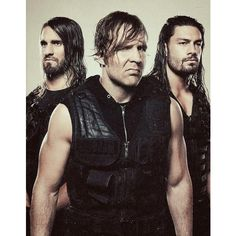 (Left to right) Seth Rollins, Dean Ambrose, and Roman Reigns. Former WWE faction known as the Shield. Wwe Dean Ambrose, Roman Regins, The Shield Wwe, Wrestling Stars, Wrestling Divas, Solo Pics, Wwe Roman Reigns, Wwe Wallpapers, Wrestling Superstars
