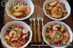 O #almoço é este Ceviche de Caju com Frutos do Mar, tem apetitoso visual, é leve, delicioso e se destaca pela praticidade.   #Receita aqui: http://www.gulosoesaudavel.com.br/2016/09/02/ceviche-de-caju-com-frutos-mar/