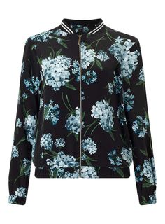 Black Floral Bomber Jacket - View All - New In - Miss Selfridge
