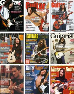 When he's done, he'll be considered one of the all time best guitar players. You'll see. John frusciante in various magazines.
