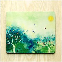 Summer Mouse Pad Cloth Surface Natural Rubber Back by ATHiNGZ, $12.99