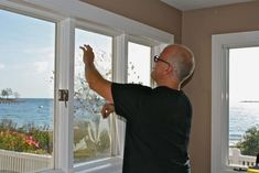 "Old windows can form condensation between the original window and the storm window. While this can't be fixed, it can be replaced using a very efficient ""replacement window"" built to the same size as the original. Window Condensation, Old Windows, Enjoying The Sun, Window Repair, Window Glass, This Or That Questions, Building, Campaign, Pictures"
