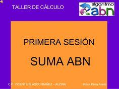 Experiencia de inicio de la suma ABN por una compañera de Alzira.