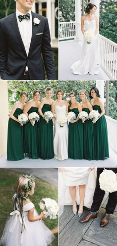 Striking emerald green bridesmaid dresses (and a super cute flowergirl!).  A Wanaka Wedding.