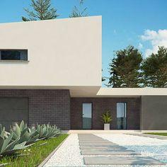 Zx70 to wyjątkowy dom z kategorii projekty domów z większą liczbą pokoi Exterior, Home Fashion, Garage Doors, House Design, Mansions, House Styles, Outdoor Decor, Home Decor, Building Homes