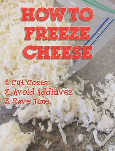 I freeze many ingredients to made food preparation easier and prolong their shelf life. Grated cheese is one on my favorite foods to freeze. This article explains why and how you should freeze cheese. #freezer http://brendid.com/food-storage-can-freeze-cheese/