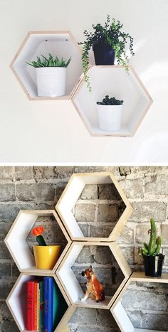 Honey Comb Shelves
