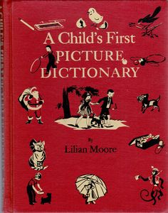 vintage kids book A Child's First Picture by OnceUponABookshop, $5.00