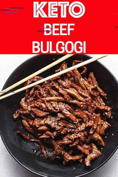 Looking for something different at your keto table for dinner? Keto Beef Bulgogi is a classic Korean dish with tender steak marinated with mild… Beef Bulgogi Recipe, Bulgogi Sauce, Beef Recipes, Low Carb Recipes, Healthy Recipes, Tender Steak, Korean Dishes, Korean Food, Marinated Steak