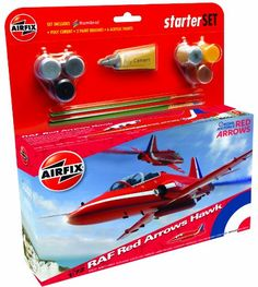 #PopularKidsToys Just Added In New Toys In Store!Read The Full Description & Reviews Here - Airfix A55202 Red Arrow BAe Hawk 1:72 Scale Model Medium Starter Set - The Royal Air Force Aerobatic Team (RAFAT), the formal name of the Red Arrows, began life at RAF Fairford, Gloucestershire in 1965. Initially there were seven display pilots and ten Gnat jet trainers. The name 'Red Arrows' was chosen to combine the appeal and expertise of two earlier teams, the Black Arr