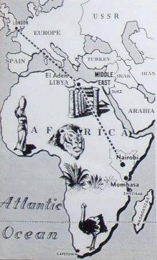 Royal Tour Route to Nairobi 1952