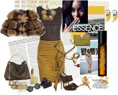 """black and gold"" by cabdesign on Polyvore"