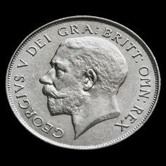 1924 George V Silver Shilling – Rare A/EF