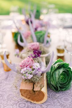 Painted antler centerpieces mint photography see more on: http Rustic Wedding Shower Cake, Rustic Wedding Groom, Rustic Wedding Seating, Rustic Wedding Photos, Rustic Wedding Centerpieces, Floral Centerpieces, Centrepieces, Floral Arrangements, Austin Ranch