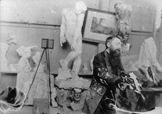 AugusteRodin dans son atelier