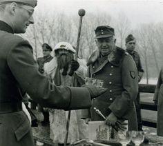 Army Group South commander Erich von Manstein, Christmas 1943 in Vinnytsia, Ukraine