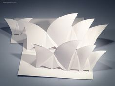 The Sydney Opera House Origamic Architecture. by Flickr user Yee's Job www.yeesjob.com