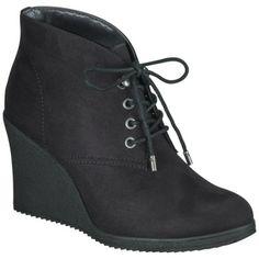 Women's Merona® Kadence Wedge Ankle Boot - Black