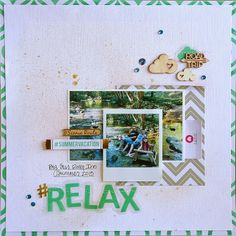 Summer Layouts Cruise Scrapbook, Baby Scrapbook, Travel Scrapbook, Scrapbook Paper Crafts, Scrapbook Sketches, Scrapbook Page Layouts, Scrapbook Pages, Scrapbook Designs, Mini Albums