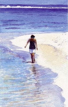 watercolor: sand, and possibilities of burnt umber. Suggesting mixes with burnt umber and what is achieved, very useful
