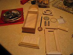 """miniaturowe-domki: Jak zrobić miniaturowy zegar meblowy ,,Dziadek"""""""