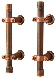Industrial Copper Cabinet Handle - industrial - Cabinet And Drawer Handle Pulls - Nine & Twenty