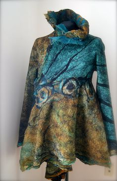 Seamless Blue Morpho Butterfly Jacket