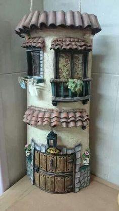 Teja rustica decorada decoracion y manualidades pinterest for Manualidades para casa rustica