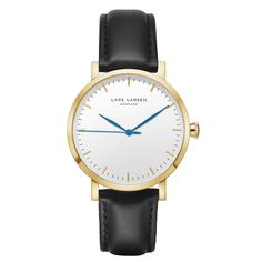 LW43 · Mens watch · Gold watch white dial