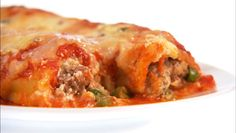 Giada De Laurentiis - Baked Manicotti with Sausage and Peas