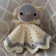 Crochet Lamb Lovey Blanket by SnugAsABugHandCrafts on Etsy
