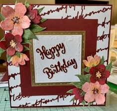 Sent in by Stephanie Gilmour. Using the Script Frame die. The Script, Your Cards, Birthday Cards, Frame, Bday Cards, Picture Frame, Birthday Greetings, Frames, Anniversary Cards