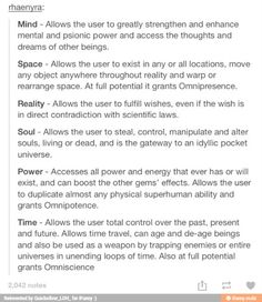 Infinity Stones. In the Marvel Cinematic Universe: The Tesseract hids the blue stone, or Space. Orb contains the purple stone, or Power. Aether can be condensed into the red Reality stone. The Mind stone (yellow) was first located in Loki's scepter but now resides with the Vision.