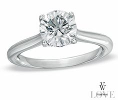Anillo de compromiso Vera Wang ..... Simple and sweet is so beautiful to me